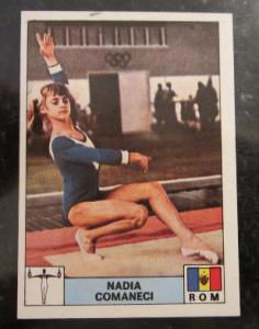 1976-Nadia-Comaneci-Panini-Rookie
