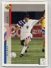 1994-MIA-HAMM-UPPER-DECK-world-cup-SOCCER-rookie