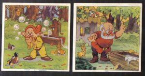 Cadum Savon Snow White & the Seven Dwarves Disney Trading cards 1-2