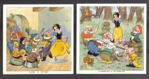 Cadum Savon Snow White & the Seven Dwarves Disney Trading cards 11-12