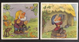 Cadum Savon Snow White & the Seven Dwarves Disney Trading cards 3-4