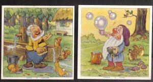 Cadum Savon Snow White & the Seven Dwarves Disney Trading cards 5-6