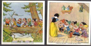 Cadum Savon Snow White & the Seven Dwarves Disney Trading cards 7-8