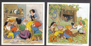 Cadum Savon Snow White & the Seven Dwarves Disney Trading cards 9-10